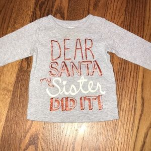 Santa long sleeve tshirt